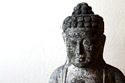 Siddharta Photo Metal Prints - Stone Buddha Metal Print by Janita Topan