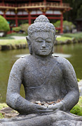 The Buddha Art - Stone Buddha with Offerings by Inti St. Clair