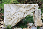 Greek Sculpture Prints - Stone Carving of Nike Print by Mark Greenberg