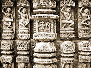 India Art - Stone Carvings In An Indain Temple by Sumit Mehndiratta