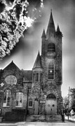 Religion Acrylic Prints Prints - Stone Church 1 Print by Steven Ainsworth