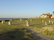 Sea Framed Prints - Stone Circle - Rhyl Framed Print by Rod Johnson