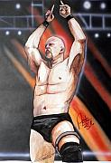 Wwe Framed Prints - Stone Cold Steve Austin Framed Print by Dave Olsen
