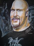 Lady In Red Drawings - Stone Cold Steve Austin by Sandeep Kumar Sahota