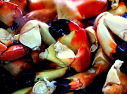 Diners Prints - Stone Crab Colossals Print by Karen Wiles