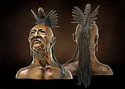 Native Americans Sculptures - Stone Eagle by Tom White