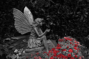 Garden Flowers Photos - Stone Fairy by Scott Hovind