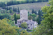Tuscan Hills Framed Prints - Stone Farmhouse near Montefioralle Framed Print by Jeremy Woodhouse