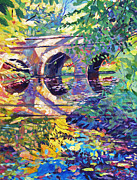 Yello Prints - Stone Footbridge Print by David Lloyd Glover