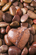 Heart Shape Prints - Stone heart Print by Garry Gay