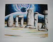 Henge Paintings - Stone Henge by Andrea  Darlington