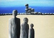Stones Painting Originals - Stone Horizon by Reb Frost