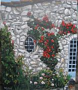 Menton Prints - Stone house Menton  France Print by Betty-Anne McDonald