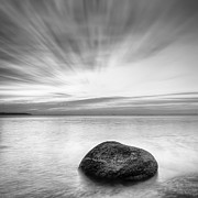 Dusk Photo Posters - Stone in the sea Poster by Evgeni Dinev