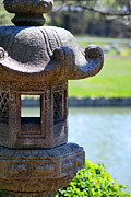 Chicago Digital Art Metal Prints - Stone Lantern Metal Print by Nancy Mueller