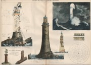 Guide Paintings - Stone Lighthouse. Edystone Rock. 1886 by Unknown