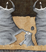 Dancing Digital Art - Stone Men 27 - Mama Fiesta by Variance Collections