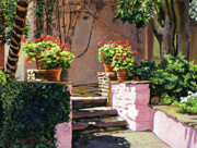 Most Viewed Posters - Stone Patio California Poster by David Lloyd Glover