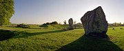 Standing Stones Prints - Stone Shadow at Avebury Print by Jan Faul