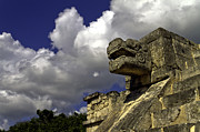 Mayan Jaguar Prints - Stone Sky and Clouds Print by Ken Frischkorn