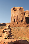 Butte Framed Prints - Stone stack. Framed Print by Jane Rix