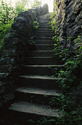 Stairways Framed Prints - Stone Stairs Lead To The Top Of Morgans Framed Print by Stephen Alvarez