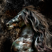 Horse Portrait Photographs Posters - Stone Stallion Poster by Patty Hallman