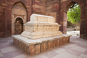 Qutb Posters - Stone Tomb of Iltutmish in India Poster by Bryan Mullennix