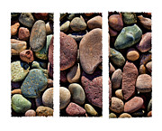 Kelley King Prints - Stone Triptych Print by Kelley King
