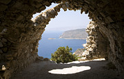 Greece Photos . Photos - Stone vaulted church ruins Kastrou Monolithos Rhodes Greece by Ian Murray