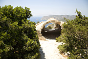 Greece Photos . Photos - Stone vaulted church ruins Kastrou Monolithos Rhodes GreeceKastrou Monolithos Rhodes Greece by Ian Murray