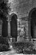 Medieval Temple Photo Prints - Stone wall Print by Armando Perez