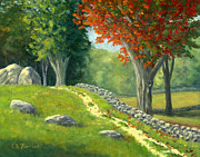 Elaine Farmer - Stone Wall at Remick