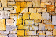 Rustic Metal Prints - Stone Wall Metal Print by Carlos Caetano