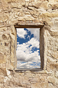 Mesa Verde Photos - Stone Window Showing the Sky by Bryan Mullennix
