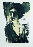 Printmaking Originals - Stone Woman by Nesli Sisli