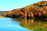 Corps Of Engineers Framed Prints - Stonecoal Lake Fall Color Framed Print by Thomas R Fletcher