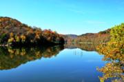 Stonecoal Lake In Autumn Color Print by Thomas R Fletcher