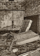 The Economy Art - Stonehaven Rehab sepia by Steve Harrington