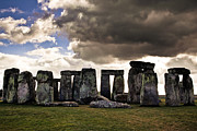 Dramatic Sky Prints - Stonehenge after the Storm Print by Justin Albrecht