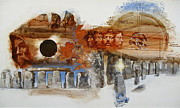 Montage Mixed Media - Stonehenge by Cliff Spohn