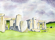 Stone Drawings Prints - Stonehenge Print by Eva Ason