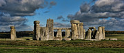 Wiltshire Framed Prints - Stonehenge Framed Print by Heather Applegate