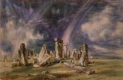 Prehistoric Paintings - Stonehenge by John Constable