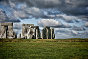 Burials Posters - Stonehenge Landscape Poster by Heather Applegate