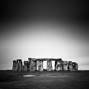 Historical Landmark Framed Prints - Stonehenge Framed Print by Nina Papiorek