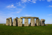 Rituals Posters - Stonehenge On a Clear Blue Day Poster by Kamil Swiatek