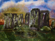 Merlin Posters - Stonehenge Poster by Shelley Bain