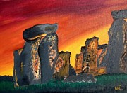 Warren Thompson Art Prints - Stonehenge Sunrise Print by Warren Thompson