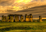 Grey Clouds Prints - Stonehenge Print by Svetlana Sewell